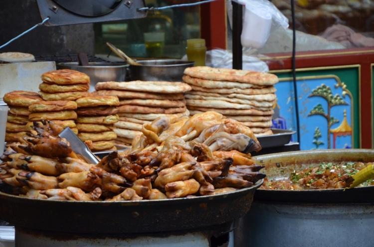 Lambs feet Xian food market